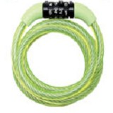 MASTER LOCK Self Coiling Cables with Combination [8143 COL] - Green - Gembok Kombinasi